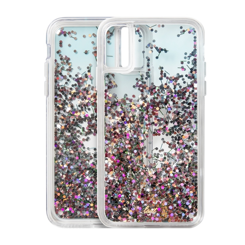 Ốp IPhone X/XS LAUT Liquid Glitter - Confetti Series