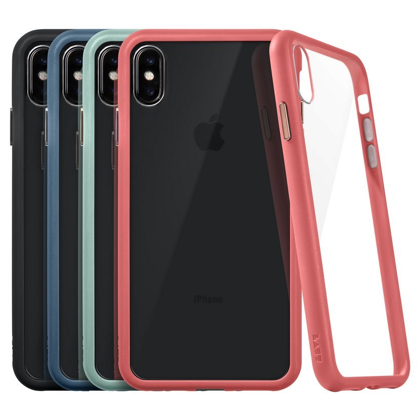 Ốp IPhone XS Max LAUT Accents Tempered Glass