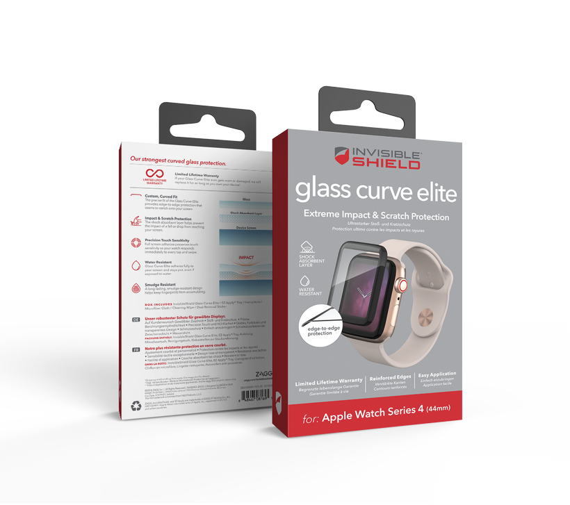 Kính cường lực Apple Watch Series 4 (44mm) Invisible Shield Curve Elite
