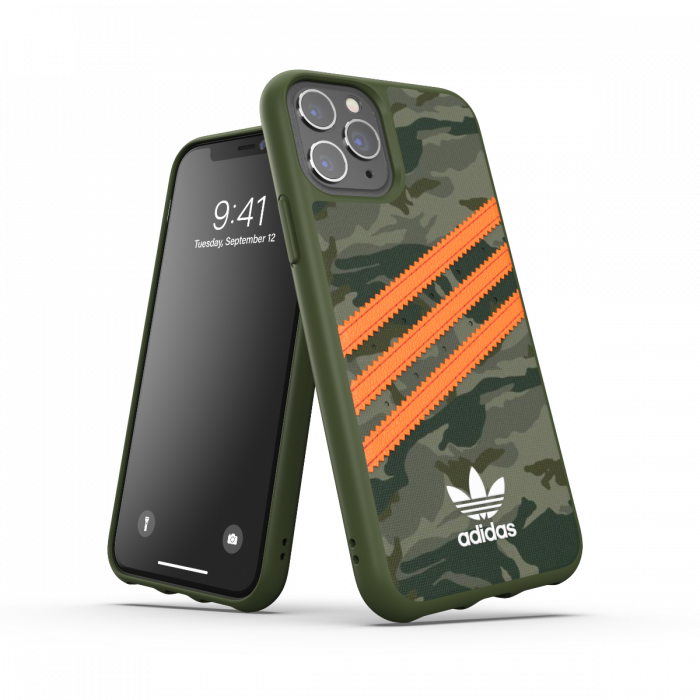 Ốp ADIDAS OR Moulded Case PU FW20 for iPhone 12/12Pro Camo Orange