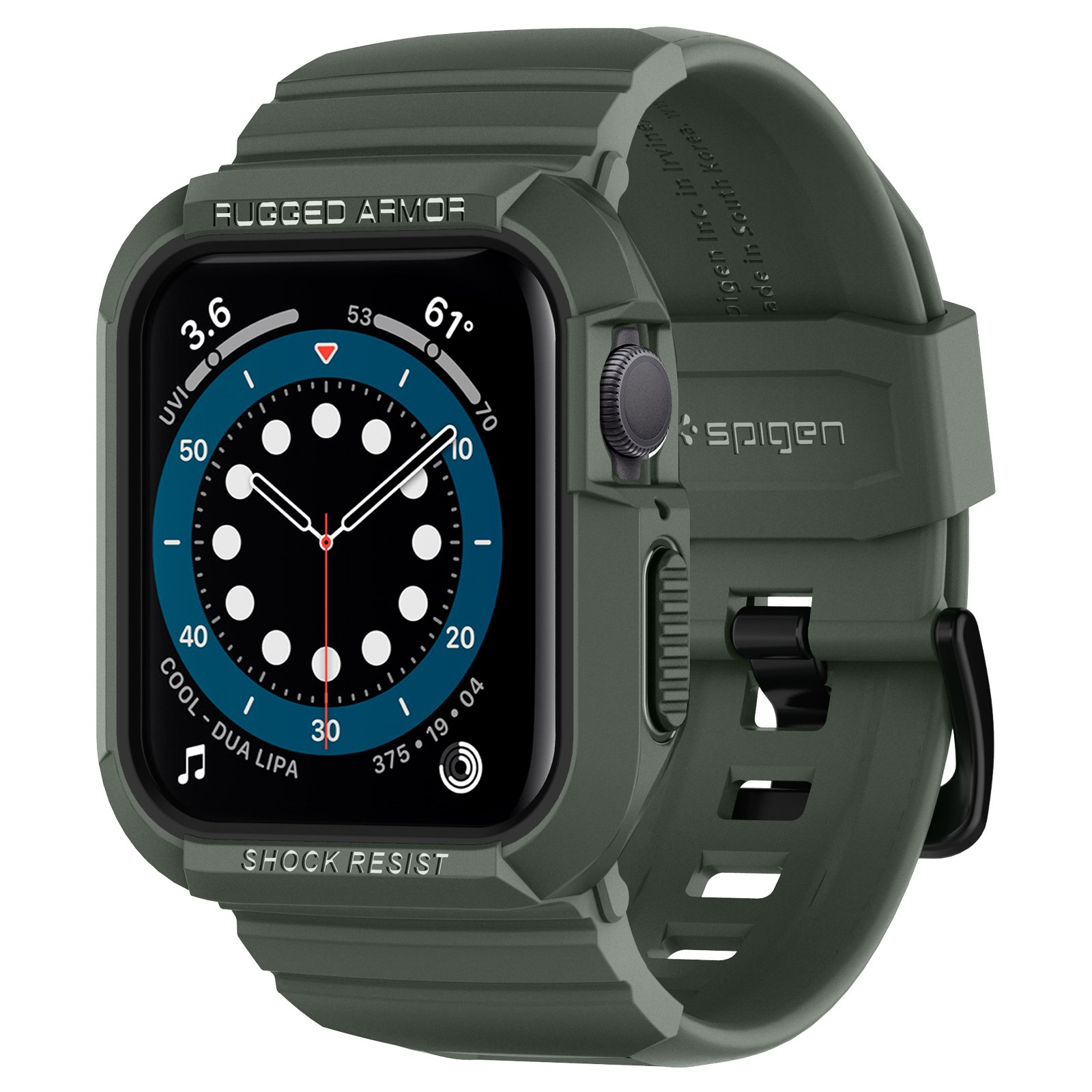 Ốp Kèm Dây Spigen Apple Watch Series SE/6/5/4 (40/38mm) Case Rugged Armor Pro